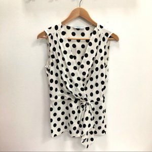 Prada Playful Polka Dot Blouse Size 8